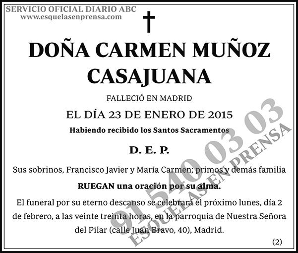 Carmen Muñoz Casajuana
